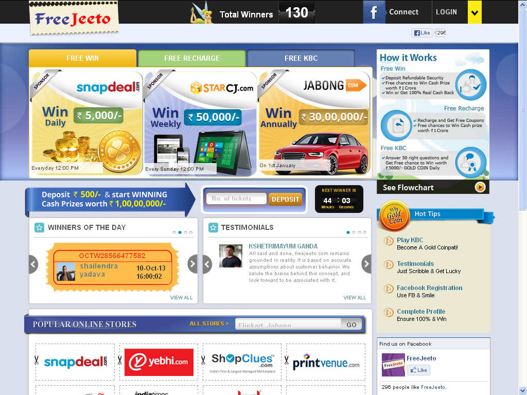 freejeeto, daily weekly and annuallyEntertainmentOther EntertainmentWest DelhiOther