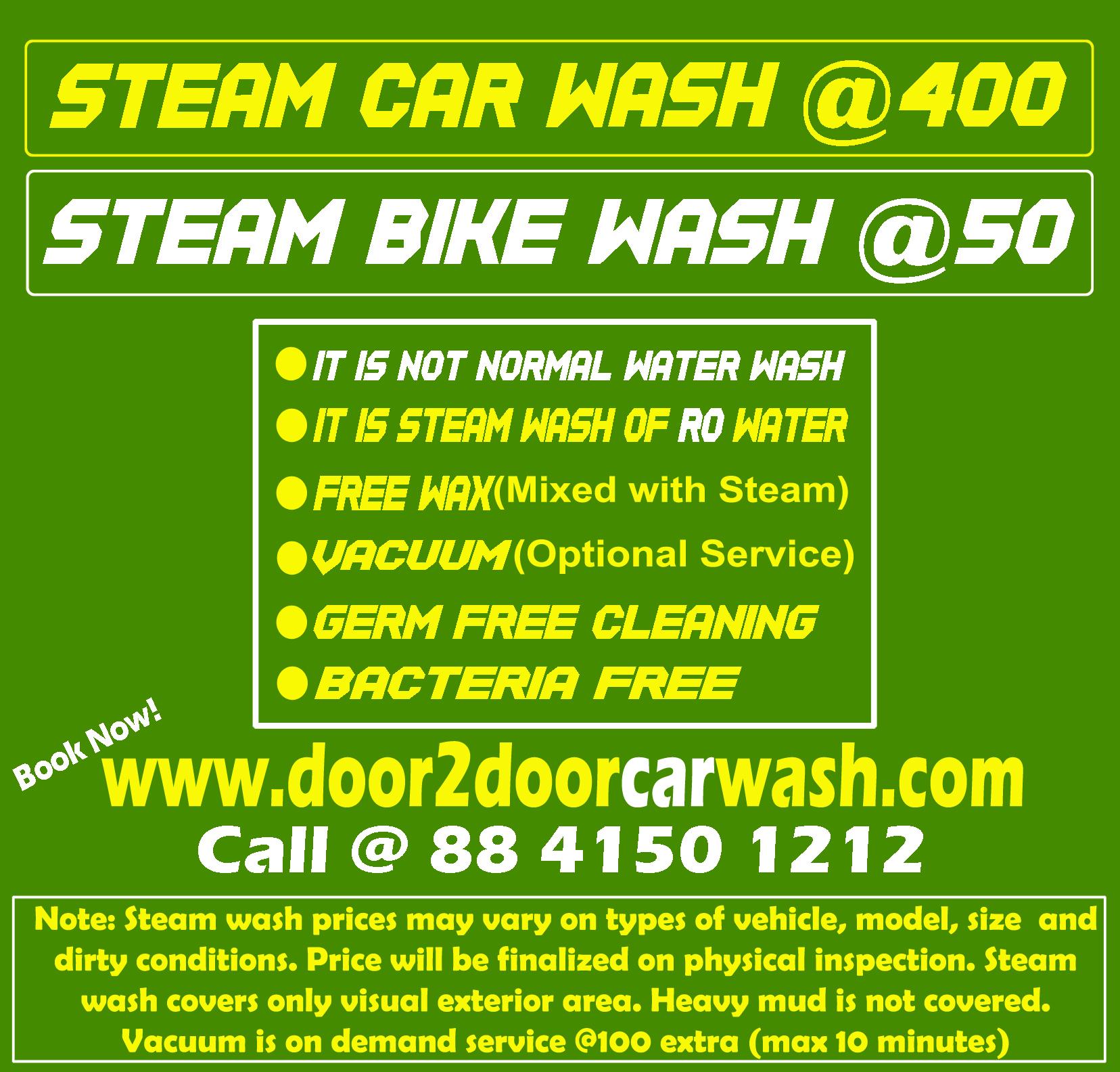 Doorstep Car Wash Services @400  in South Delhi