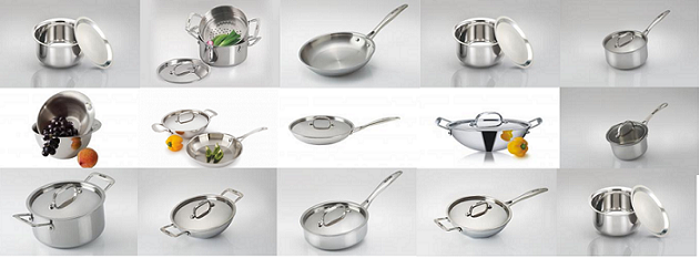 Tri ply stainless steel cookware OnlineHome and LifestyleHome - Kitchen AppliancesFaridabadOld Faridabad