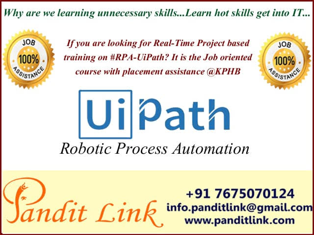rpa uipath training in hyderabadEducation and LearningCoaching ClassesAll Indiaother
