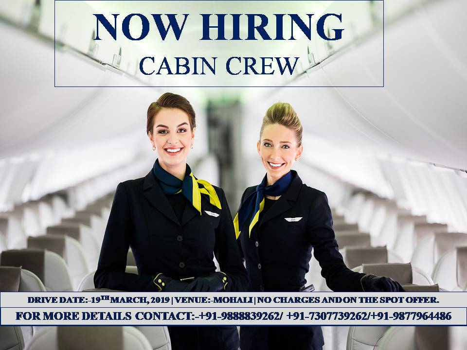 Urgent Opening for Cabin CrewHotels5 Star HotelsAll IndiaAmritsar