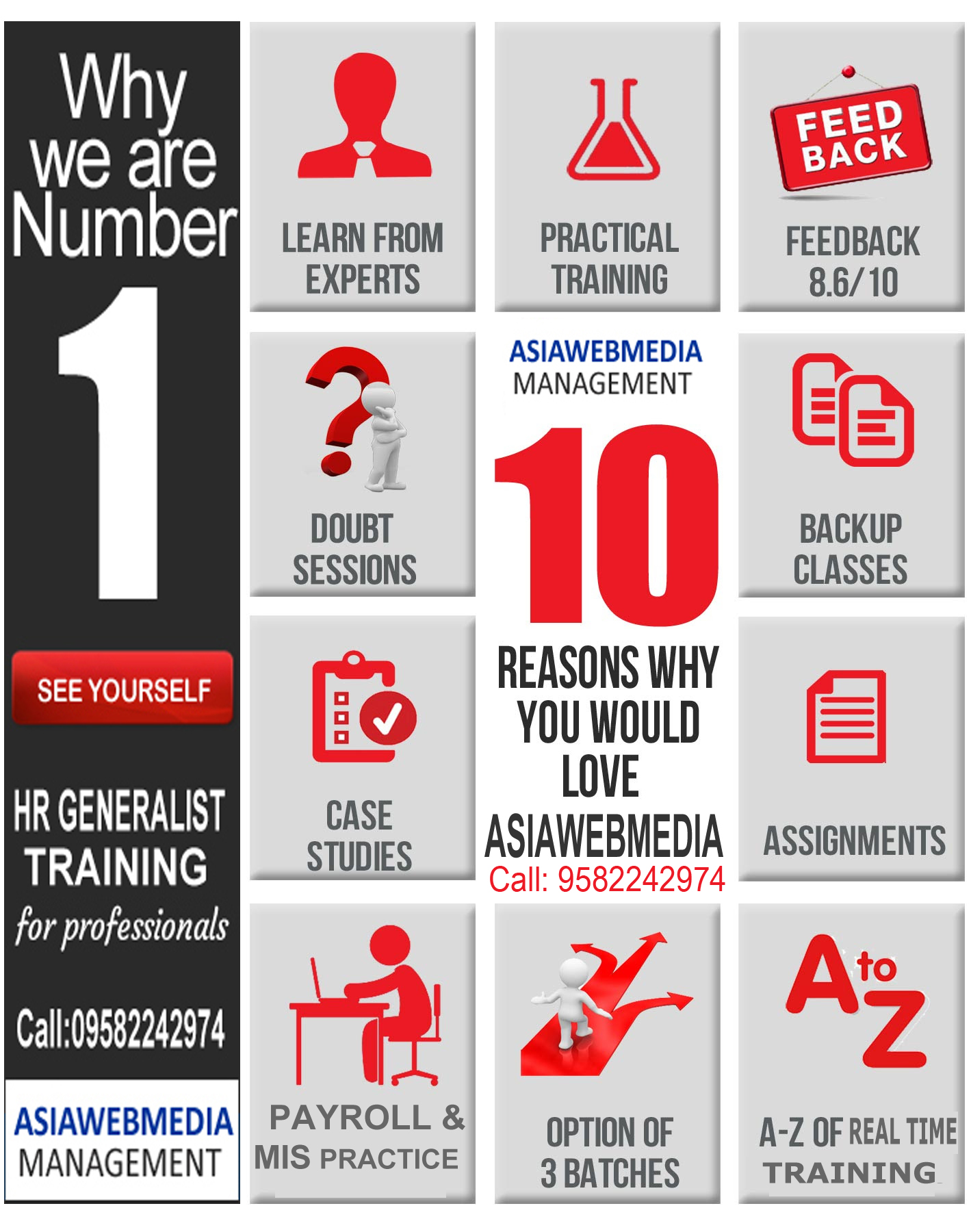 Real Time Practical Training with 100% Placement - ASIAWEBMEDIAEducation and LearningProfessional CoursesSouth DelhiSaket